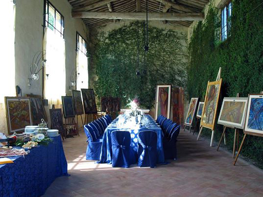Vernissage in villa