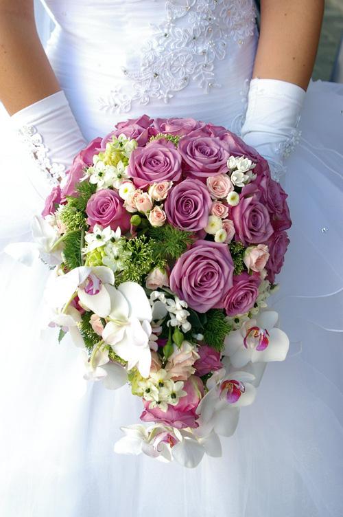 Bouquet da sposa rotondo
