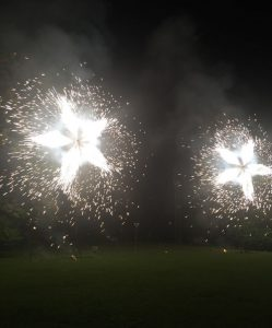 Fuochi d'artificio a Villa Bernardini