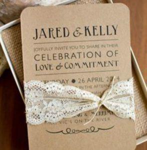Inviti di nozze creativi
