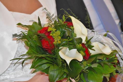 Bouquet da sposa aperto