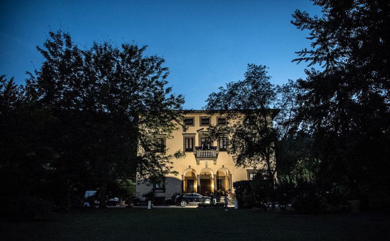 Facciata di Villa Bernardini