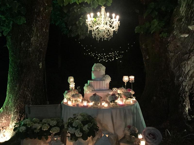 Torta nuziale a Villa Bernardini